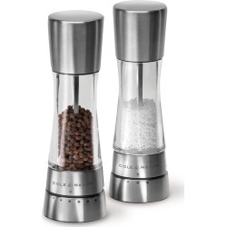 Cole & Mason Derwent Stainless Steel Salt & Pepper Mill Set, Silver found on Bargain Bro Philippines from target for $74.99