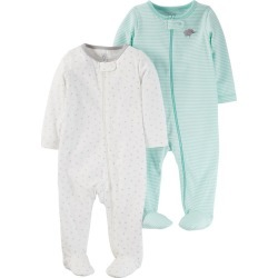 Baby 2pk Sleep N' Play Set - Just One You Made by Carter's Cool Mint 3M, Infant Unisex, Size: 3 M, Green