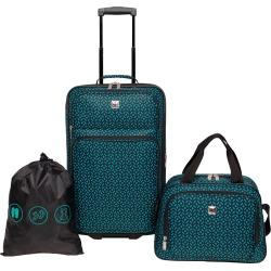 Skyline Carry On Luggage Set 3pc Set - Teal, Black