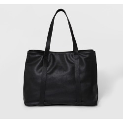 Triple Compartment Tote Handbag - Universal Thread Black, Women's
