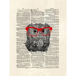 Smarty Owl by Matt Dinniman Unframed Wall Art Print, Red found on Bargain Bro India from target for $17.99