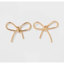 SUGARFIX by BaubleBar Gold Bow Earrings - Gold, Women's