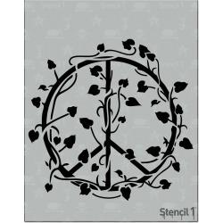 Stencil1 Vined Peace Sign - Stencil 8.5