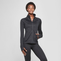 Women's Knit Full Zip Track Jacket - C9 Champion Black XL found on Bargain Bro India from target for $29.99