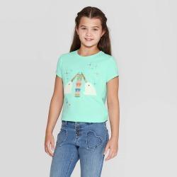 petiteGirls' Short Sleeve Knitting Narwhal Graphic T-Shirt - Cat & Jack Mint XL, Girl's, Green