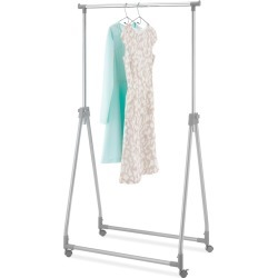 Whitmor Foldable Collapsible Garment Rack - Silver Metal (Grey) found on Bargain Bro India from target for $16.99