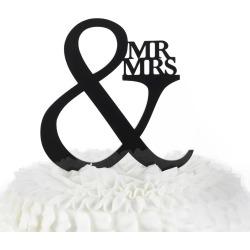"""""""Mr. & Mrs."""" Wedding Cake Topper, Black"""