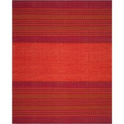 Orange/Red Stripe Woven Area Rug 8'X10' - Safavieh, Orange Red
