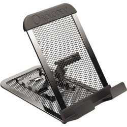 Rolodex Adjustable Mobile Device Mesh Stand, Black, Gray
