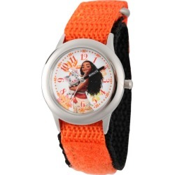 Girls' Disney Moana and Pua Stainless Steel Time Teacher Watch - Orange, Girl's found on Bargain Bro India from target for $22.49