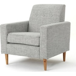 Sawyer Mid Century Modern Club Chair Light Gray Tweed - Christopher Knight Home, Light Grey Tweed found on Bargain Bro India from target for $215.99
