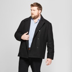 Men's Big & Tall Wool Pea Coat - Goodfellow & Co Black 2XB found on Bargain Bro India from target for $84.99