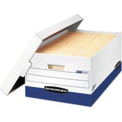 Bankers Box Presto Maximum Strength Storage Box, Legal 24, 15 x 24 x 10, WE, 12/Carton (0063201), White Blue