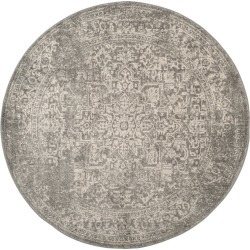9' Medallion Round Area Rug Silver/Ivory - Safavieh, Size: 9' ROUND found on Bargain Bro Philippines from target for $262.19
