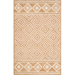 4'X6' Geometric Woven Area Rug Natural/Ivory - Safavieh, White found on Bargain Bro Philippines from target for $122.49