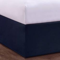 Magic Skirt Tailored Skirt Bed Skirt Navy, Blue