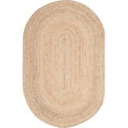 4'X6' Solid Area Rug Natural - Safavieh, White found on Bargain Bro India from target for $115.99