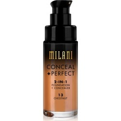 Milani Conceal + Perfect 2-in-1 Foundation 13 Chestnut - 1 fl oz, Brown found on Bargain Bro Philippines from target for $8.99