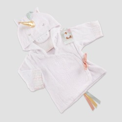 Baby Aspen Girls' Simply Enchanted Unicorn Hooded Spa Robe 0-9M, Girl's, Size: Small, MultiColored