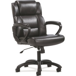 Sadie Ergonomic Swivel Leather Executive Computer/Office Chair with Arms and Lumbar Support Black - HON found on Bargain Bro Philippines from target for $155.99