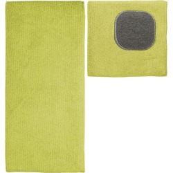 Ultra Absorbent Solid Microfiber Kitchen Towel With Scrubber Cloth Pear - Mu...