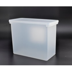 Plastic Hanging File Crate with Lid 13x6.5x13 Clear - Made By Design