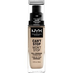 NYX Professional Makeup Can't Stop Won't Stop Full Coverage Foundation Fair - 1.3 fl oz found on Bargain Bro Philippines from target for $10.59