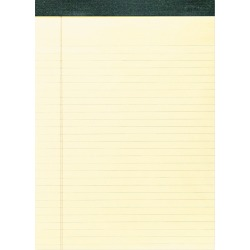 Roaring Spring Recycled Legal Pad, 8 1/2 x 11 3/4 Pad, 8 1/2 x 11 Sheets, 40/Pad, Canary, Dozen, Yellow