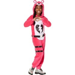 Halloween Kids' Fortnite Cuddle Team Leader Halloween Costume L, Women's, Size: Large, Pink