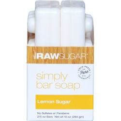 Raw Sugar Simply Bar Soap Lemon Sugar - 2pk