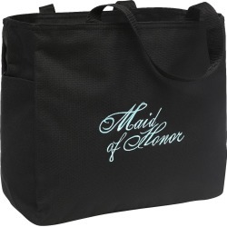 Maid of Honor Diamond Wedding Gift Tote Bag - Black, Girl's