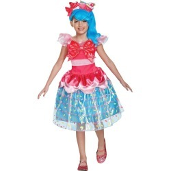 Halloween Girls Shopkins Shoppies Jessicake Deluxe Costume S(4-6X), Girl's, Size: Small, MultiColored