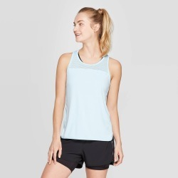 Women's Engineered Mesh Tank Top - C9 Champion Ice Blue XXL, White Blue found on Bargain Bro India from target for $19.99