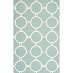 Dhurries Rug - Light Blue/Ivory - (4'x6') - Safavieh found on Bargain Bro India from target for $159.99