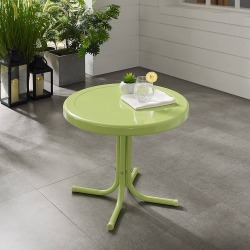 Retro Metal Side Table Key Lime - Crosley, Key Green