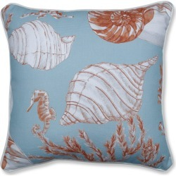 "Pillow Perfect 16.5""x16.5"" Cape Cod Reef Throw Pillow Blue, Size: 16'5""x16'5"""