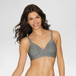 Hanes Women's ComfortFlex Fit Fuller Coverage Wireless Bra, Size: XXL, Gray found on Bargain Bro Philippines from target for $15.99