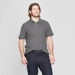 e10a13ccce6 Men's Big & Tall Pinstripe Regular Fit Short Sleeve Slub Jersey Polo Shirt  - Goodfellow &