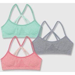 Hanes Girls' 2+1 Bonus Pack Seamless Molded Wireless Racerback Bra - Coral XL, Girl's, Pink found on Bargain Bro Philippines from target for $11.99
