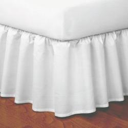 Magic Skirt Ruffled California King Bed Skirt Ivory