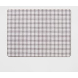 """12""""x16"""" Small Gingham Cork Placemat Neutral - Threshold , Beige White"""