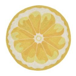 Yellow Lemon Slice Kitchen Rug (3' Round) - Liora Manne