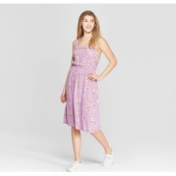 e8b29f2704d Women s Floral Print Strappy Square Neck Midi Dress - Xhilaration Lavender  (Purple) L found