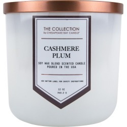 12oz Jar Candle Cashmere Plum - The Collection By Chesapeake Bay Candle, Clear