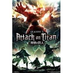 Attack on Titan Season 2 Teaser Poster 34x22 - Trends International, Multi-Colored found on Bargain Bro India from target for $7.99