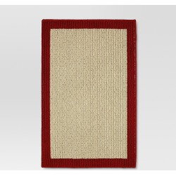 """20""""x30"""" Madison Border Washable Accent Rug Red - Threshold , Size: 1'8""""x2'6"""""""