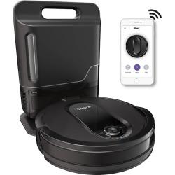 Shark IQ Robot Self-Empty Vacuum R100AE with Self-Empty Base, Wi-Fi, Home Mapping RV1001AE, Black