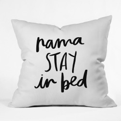 """20""""x20"""" Chelcey TateNamaSTAY In Bed Throw Pillow Black - Deny Designs, White Black"""