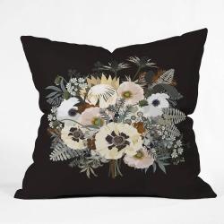 Iveta Abolina Elsa Square Throw Pillow Black - Deny Designs