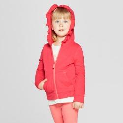 Toddler Girls' Hoodie Sweatshirt - Cat & Jack Coral 5T, Orange